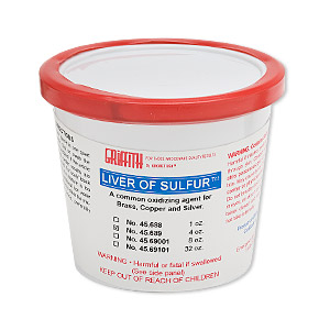 oxidizer, griffith liver of sulfur™, white. sold per 4-ounce container.