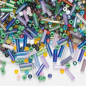 Seed Beads and Bugle Beads Glass Mixed Colors