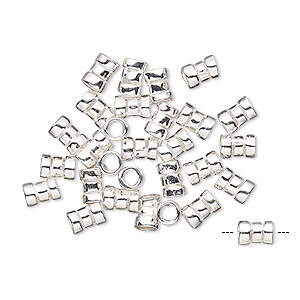 Squeeze Crimps Sterling Silver Silver Colored