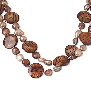 Necklace mother of pearl shell and cultured freshwater for Jewelry stores in bear delaware