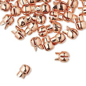 Squeeze Crimps Copper Plated/Finished Copper Colored