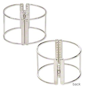 Bracelet Bases Imitation rhodium-plated Silver Colored