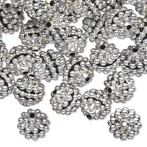 Beads Acrylic Silver Colored