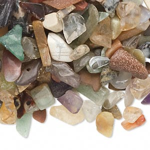 Undrilled Mini Chips Grade C Mixed Gemstones