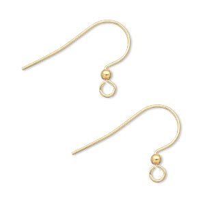 Hook Earwires Gold Plated/Finished Gold Colored