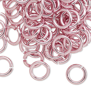 Open Jumprings Aluminum Pinks