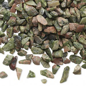 Undrilled Mini Chips Unakite Multi-colored