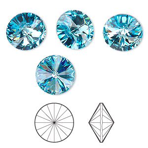 Point-Back Swarovski Aquamarine