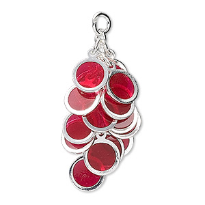 Drops Silver Plated/Finished Reds