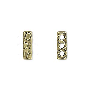 Spacer Bars Brass Plated/Finished Gold Colored