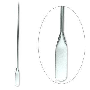 paddle pin, gunmetal-plated brass, 2 inches with teardrop, 22 gauge. sold per pkg of 100.