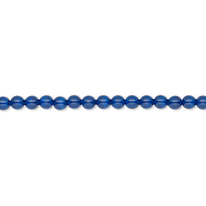 pearl, swarovski crystal gemcolors, dark lapis, 3mm round (5810). sold per pkg of 100.