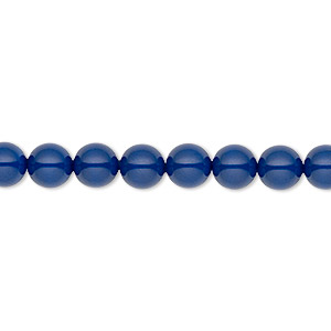 pearl, swarovski crystal gemcolors, dark lapis, 6mm round (5810). sold per pkg of 50.