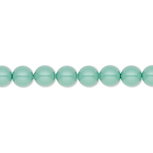 pearl, swarovski crystal gemcolors, jade, 6mm round (5810). sold per pkg of 500.
