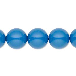pearl, swarovski crystal gemcolors, lapis, 12mm round with 1.3-1.5mm hole (5811). sold per pkg of 10.