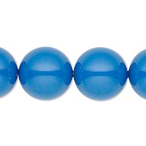 pearl, swarovski crystal gemcolors, lapis, 16mm round with 1.3-1.5mm hole (5811). sold per pkg of 5.