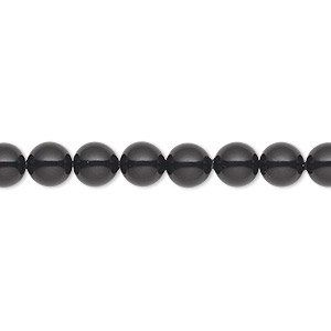 pearl, swarovski crystal gemcolors, mystic black, 6mm round (5810). sold per pkg of 50.