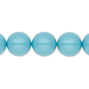 pearl, swarovski crystal gemcolors, turquoise, 12mm round (5810). sold per pkg of 100.