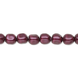 pearl, swarovski crystals, blackberry, 6mm baroque (5840). sold per pkg of 500.