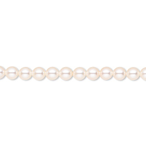 pearl, swarovski crystals, creamrose, 4mm round (5810). sold per pkg of 100.