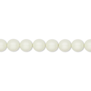pearl, swarovski crystals, crystal pastel green, 6mm round (5810). sold per pkg of 500.