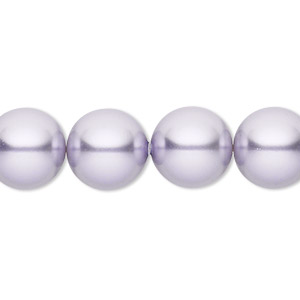 pearl, swarovski crystals, lavender, 12mm round with 1.3-1.5mm hole (5811). sold per pkg of 100.