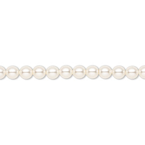 pearl, swarovski crystals, light creamrose, 4mm round (5810). sold per pkg of 500.