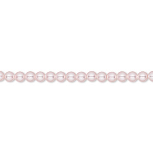 pearl, swarovski crystals, rosaline, 3mm round (5810). sold per pkg of 100.