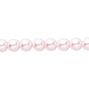 pearl, swarovski crystals, rosaline, 6mm round (5810). sold per pkg of 500.