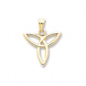 pendant, 14kt gold, 17x16mm angel symbol. sold individually.
