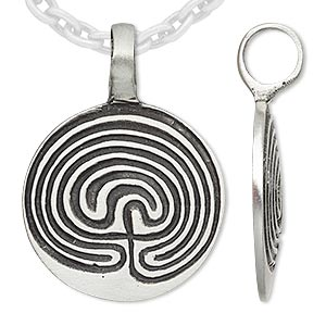 pendant, antiqued pewter (tin-based alloy), 38x28mm domed round with line design. sold individually.