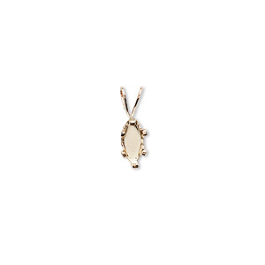 pendant, snap-tite, 14kt gold-filled, 8x4mm 6-prong marquise setting. sold individually.