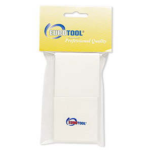 polishing pads, eurotool, foam, off-white, 2x2-inch square. sold per pkg of 20.