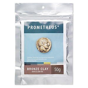 prometheus bronze clay, rapid and low fire. sold per 50-gram pkg.
