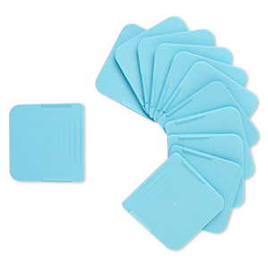 replacement organizer divider, artbin tarnish inhibitor, polypropylene, teal blue, 1-1/2 inch square. sold per pkg of 12.