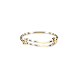 ring, 14kt gold-filled, 1mm wide, adjustable from size 8-10. sold individually.
