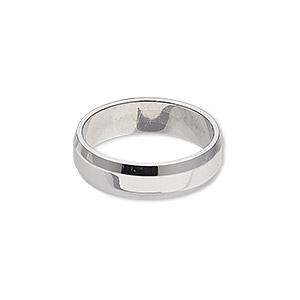 ring, stainless steel, 6mm wide beveled band, size 9. sold individually.