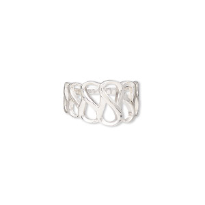 ring, sterling silver, 12mm wide with cutout design, size 7. sold individually.