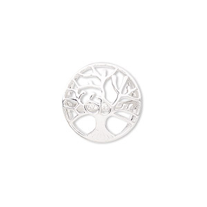 ring, sterling silver, 20mm wide with cutout tree of life, size 9. sold individually.