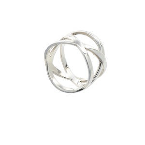 ring, sterling silver, 3-line weave, size 7.5. sold individually.