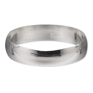 ring, sterling silver, 4mm wide, size 8. sold individually.
