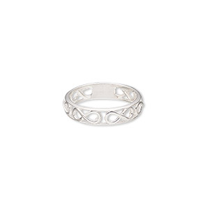 ring, sterling silver, 5mm wide with infinity design, size 7. sold individually.