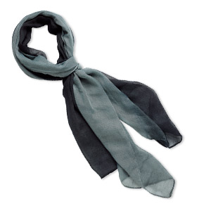 scarf, polyester, black and grey, 60x24-inch rectangle. sold individually.