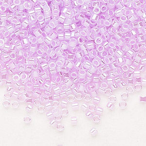 seed bead, delica, glass, ceylon color-lined primrose pink, (db248), #11 round. sold per 7.5-gram pkg.