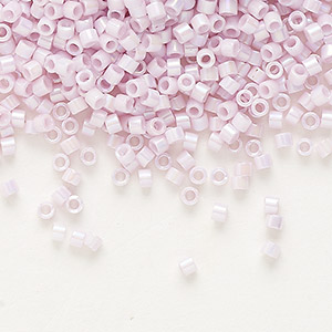 seed bead, delica, glass, opaque rainbow pink, (db1504), #11 round. sold per 7.5-gram pkg.