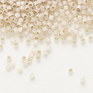 seed bead, delica, glass, silver-lined opal blush, (db1452), #11 round. sold per 7.5-gram pkg.