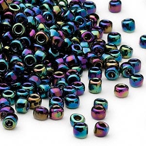 seed bead, dyna-mites™, glass, transparent rainbow iris, #6 round. sold per 1/2 kilogram pkg.