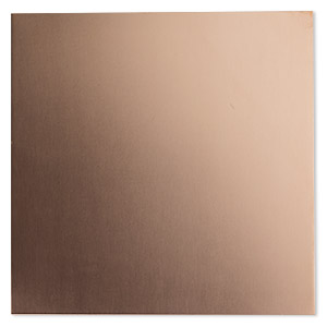 sheet, copper, half-hard, 6x6-inch square, 22 gauge. sold individually.