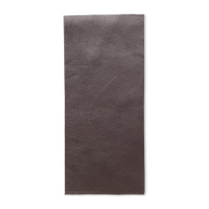sheet, leather, brown, 9x4-inch rectangle. sold individually.