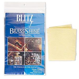 shine cloth, blitz brassshine™ tarnish eater, 14x11-inch rectangle. sold individually.